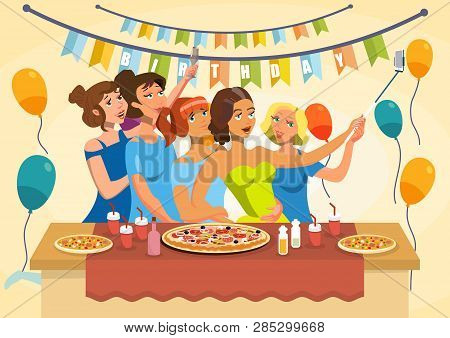 Birthday Party Vector Photo Free Trial Bigstock