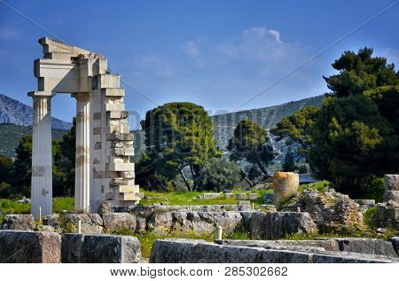 The archaeological site of Asklipieion is considered one of the most important in Greece and it covered a big area, offering hostels, gymnasium, baths and the famous Theatre of Epidaurus poster