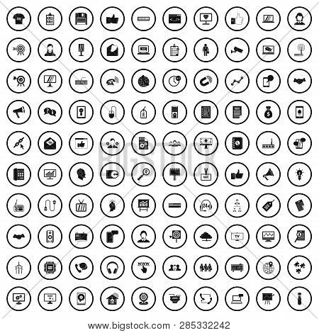 100 Data Exchange Icons Set In Simple Style For Any Design Vector Illustration