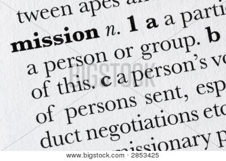 Définition du dictionnaire Word Mission