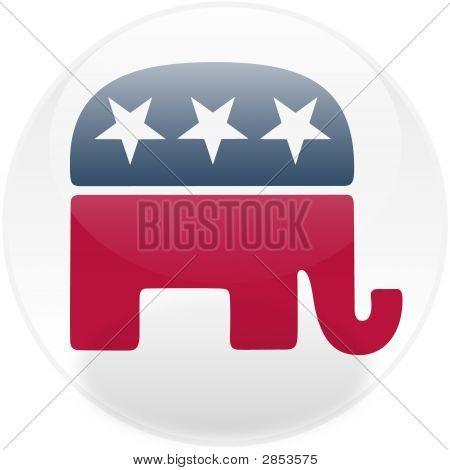 Republican Square Button