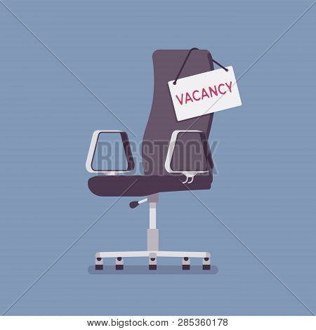 Vacancy Chair Sign In For Job Applicants. Empty Place For Candidates, Vacant Post Announcement, Hiri