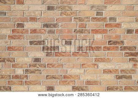Brown Clinker Brick Wall Background - Modern Building Facade
