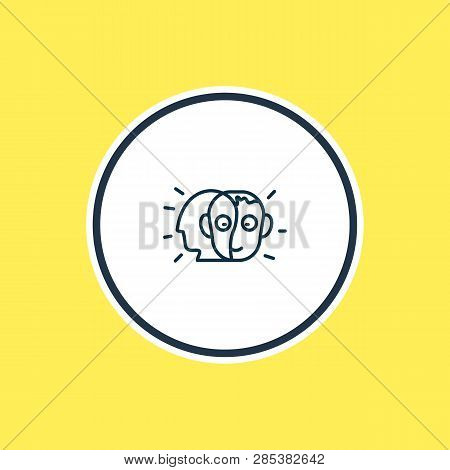 Vector Illustration Of Alter Ego Icon Line. Beautiful Emoticon Element Also Can Be Used As Person Ic
