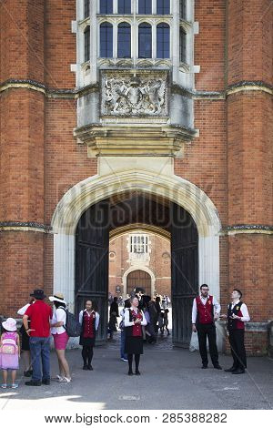 London, Uk - May 11, 2018. Entrance To Hampton Court Palace Which Was Originally Built For Cardinal