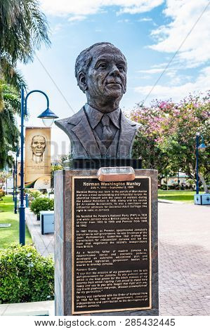 Saint Andrew, Jamaica - February 05 2019: Statue/sculpture Of Jamaican Statesman And National Hero N