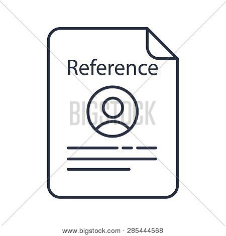 Reference Letter Isolated Icon. Recommendation Letter. Employment Reference. Job Application. Isolat