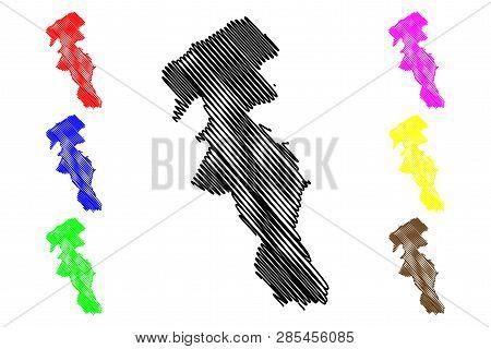 Ardabil Province (provinces Of Iran, Islamic Republic Of Iran, Persia) Map Vector Illustration, Scri