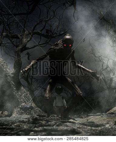 Nightmare With Bogeyman,boy Enter To The Haunted Forest In His Dream And Discover A Mythical Creatur