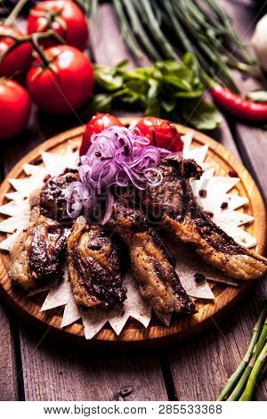 Hot Meat Dishes - Ribs With Tomatoes A