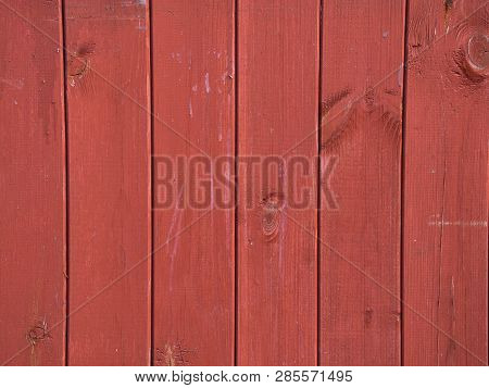 Red Wooden Texture Pattern Background, Copy Space