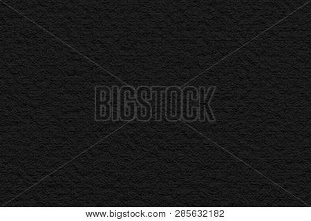 Rubber Textured Surface Black Background. 3D Illustration.