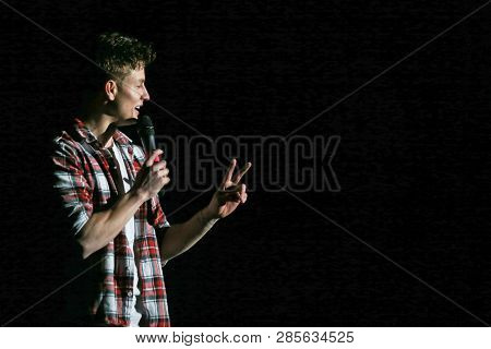 HUNTINGTON, NY - FEB 20: Comedian Matt Rife performs in concert at the Paramount on February 20, 2019 in Huntington, New York.