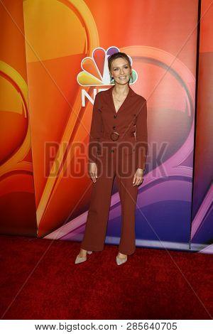 LOS ANGELES - FEB 20:  Michaela McManus at the NBC's Los Angeles Mid-Season Press Junket at the NBC Universal Lot on February 20, 2019 in Universal City, CA