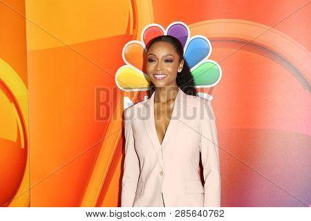 LOS ANGELES - FEB 20:  Yaya DaCosta at the NBC's Los Angeles Mid-Season Press Junket at the NBC Universal Lot on February 20, 2019 in Universal City, CA