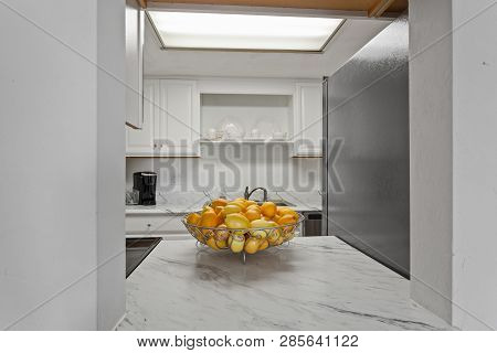 Modern Kitchen Home Interior With Hardwood And Wooden Cabinets Furniture Ideal Decoration Clean Cont