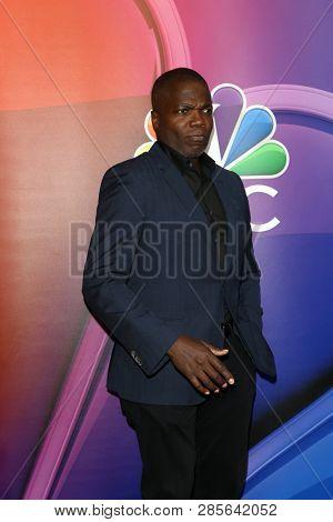 LOS ANGELES - FEB 20:  Reno Wilson at the NBC's Los Angeles Mid-Season Press Junket at the NBC Universal Lot on February 20, 2019 in Universal City, CA