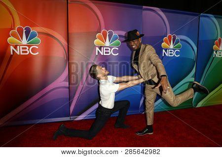 LOS ANGELES - FEB 20:  Derek Hough, Ne-Yo at the NBC's Los Angeles Mid-Season Press Junket at the NBC Universal Lot on February 20, 2019 in Universal City, CA