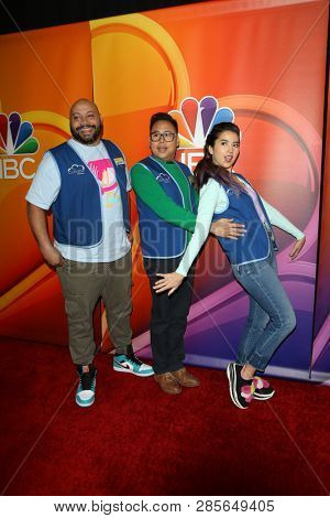 LOS ANGELES - FEB 20:  Colton Dunn, Nico Santos, Nichole Bloom at the NBC's Los Angeles Mid-Season Press Junket at the NBC Universal Lot on February 20, 2019 in Universal City, CA