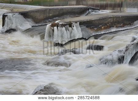Rapidly Flowing Water, South Bohemia, Czech Republic