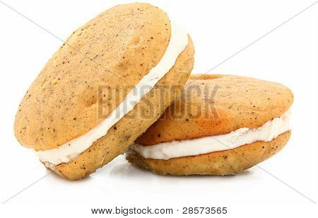 Vanilla Bean Whoopie Pie On White