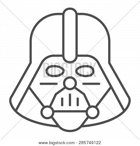 Darth Vader Thin Line Icon. Star Wars Vector Illustration Isolated On White. Space Character Outline