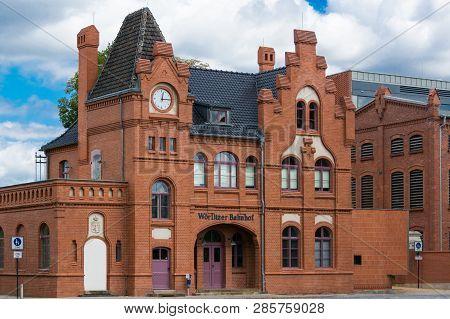 Dessau - August 05, 2018: Woerlitzer Bahnhof, Dessau, Saxony-anhalt, Germany