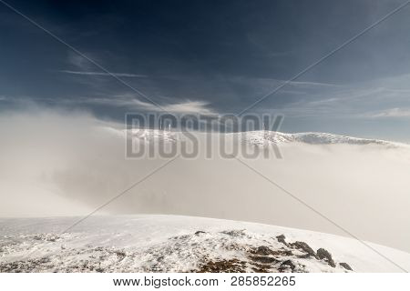 Krizava And Velka Luka Hills From Skalka Hill In Mala Fatra Mountains In Slovakia During Winter Day