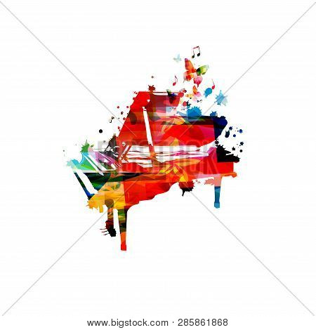 Colorful Piano Music Vector & Photo (Free Trial) | Bigstock