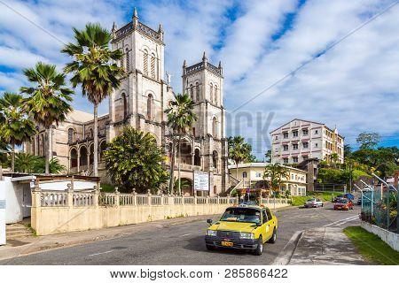 Suva, Fiji - Dec 31 2014: Sacred Heart Cathedral Of Suva, Archdiocese Of Suva. Roman Catholic Church