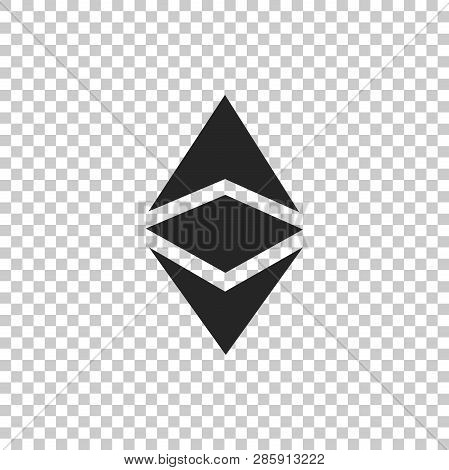 Cryptocurrency Coin Ethereum Classic Etc Icon Isolated On Transparent Background. Physical Bit Coin.