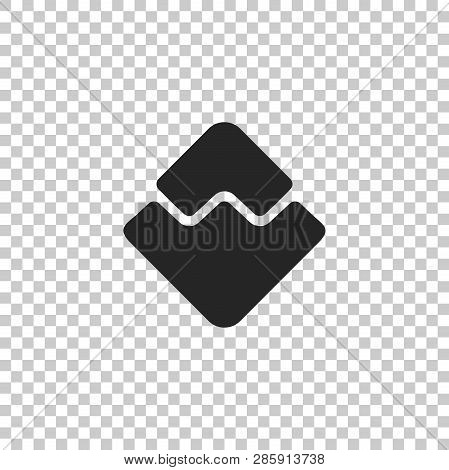 Cryptocurrency Coin Waves Icon Isolated On Transparent Background. Physical Bit Coin. Digital Curren