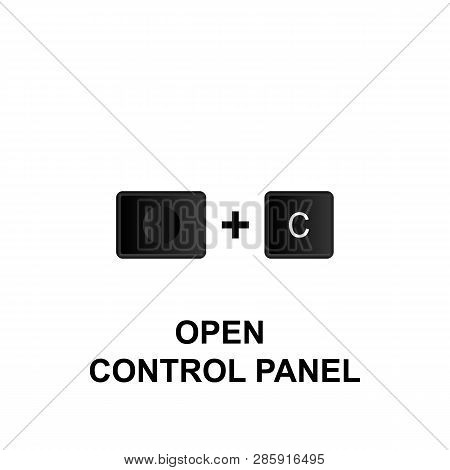 Keyboard Shortcuts, Open Control Panel Icon. Can Be Used For Web, Logo, Mobile App, Ui, Ux On White