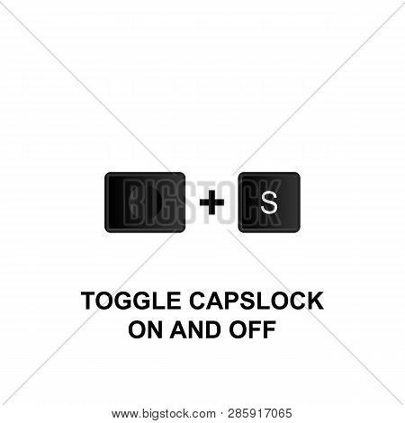 Keyboard Shortcuts, Toggle Caps Lock On And Off Icon. Can Be Used For Web, Logo, Mobile App, Ui, Ux