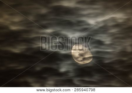 Moon Night, Overcast Image & Photo (Free Trial) | Bigstock