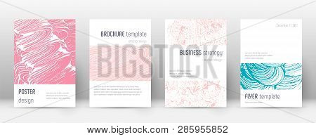 Cover page design template. Minimalistic brochure layout. Classy trendy abstract cover page. Pink and blue grunge texture background. Uncommon poster. poster