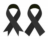 Mourning and melanoma support symbol vector illustration concept image icon poster