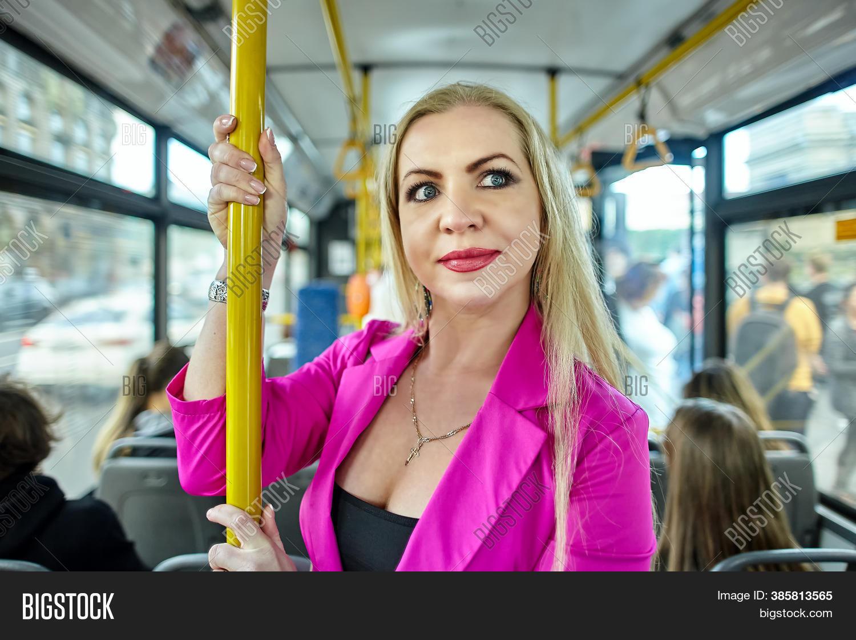 Women in public mature Giggling woman
