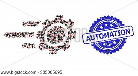 Automation Corroded Seal Imitation And Vector Recursion Mosaic Rush Gear. Blue Seal Includes Automat