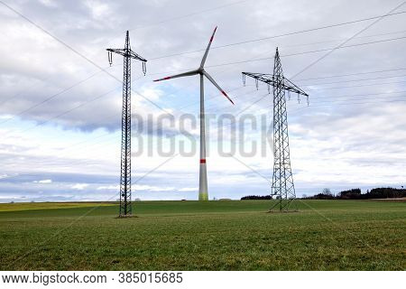 Onshore Wind Energy In Bavaria / Germany