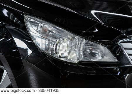 Novosibirsk, Russia - August  07, 2020 : Subaru  Outback, Close Up Of The Car Detailing: Beauty Clea