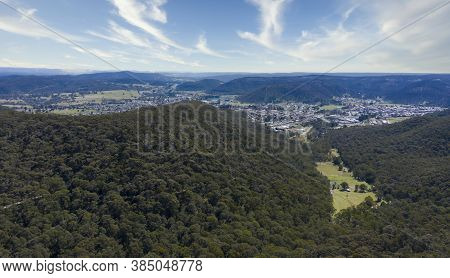 The Township Of Lithgow Nestled In A Valley In The Central Tablelands Of New South Wales In Australi
