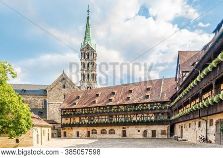 View At The Courtyard Of Old Palace In Bamberg - Germany