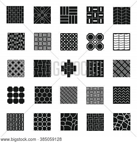 Paving Icons Set. Simple Set Of Paving Vector Icons For Web Design On White Background