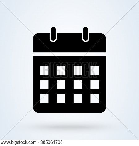 Calendar Or Date Sign Icon Or Logo. Date, Holiday, Important Day Concept. Date And Time, Vector Illu