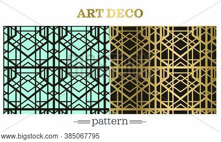 Vector Retro Template For Gatsby Style Vintage Party, Greeting Cards, Invitations, Retro Parties And