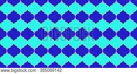 Eid Mubarak Islam Illustration. Ramadan Kareem Muslim Background. Arabic Mosque Window Grid. Morocca