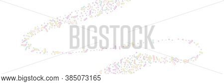Sprinkle Realistic With Grains Of Desserts. Seamless Pattern Light Gradient Color Sprinkles Grainy I
