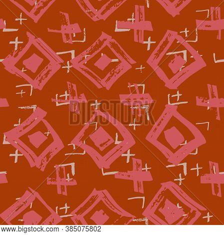 Tie Dye Japanese Geometric Winter Seamless Pattern. Geo Wabi Sabi Patchwork Kimono Print. Scribble C