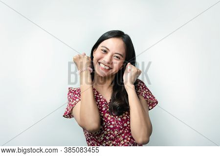 Woman In Chinese Style Happy And Joyful In Success